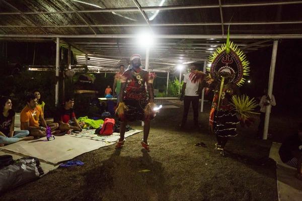 folk dancers entertaining crc 2017 participants @ jellyfish watersports
