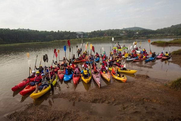 Participants of Chaliyar river challenge 2017 @ jellyfish watersports