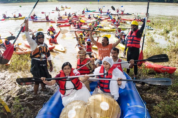 Honorable guests inaugurating Chaliyar River challenge 2017 @ jellyfish watersports